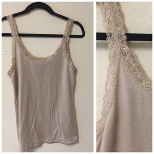 Forever 21 lace tank top LARGE